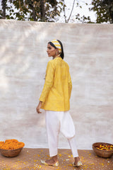 Utsav Self textured top and khadi pant