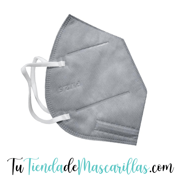 Packs de 10, 20, 30, 40 o 50 mascarillas KN95 color GRIS. - Tu Tienda de Mascarillas