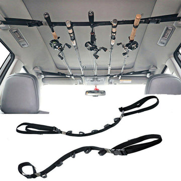 Outdoor Foldable Adjustable Car Fishing Rod Strap Vehicle Fishing Rod Carrier Stand Fishing Tackle Accessory Tool 25