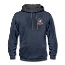 Load image into Gallery viewer, Contrast Hoodie - indigo heather/asphalt