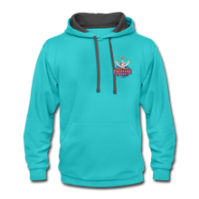Load image into Gallery viewer, Contrast Hoodie - scuba blue/asphalt