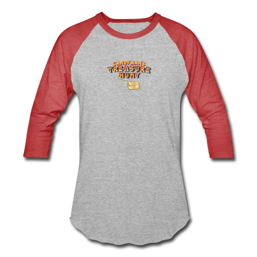 Unisex Baseball T-Shirt - heather gray/red