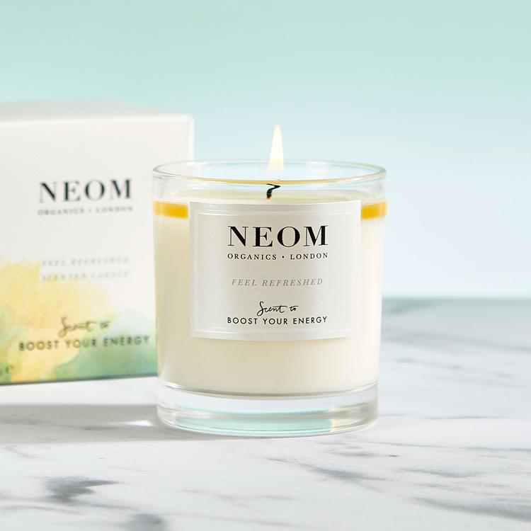 Neom Feel Refreshed Scented Candle 1 Wick