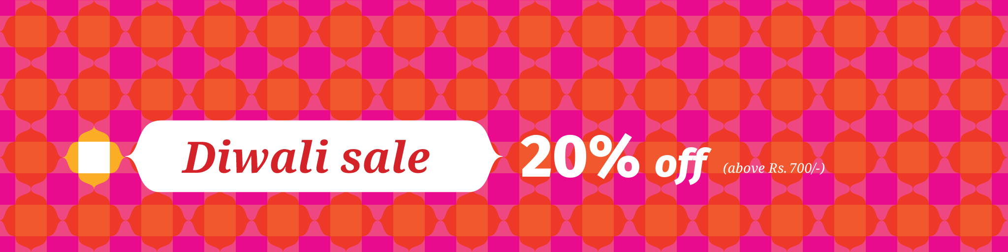 Diwali sale 20% on all products, hurry and buy what you can!