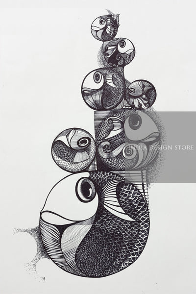 pen and ink art india design store
