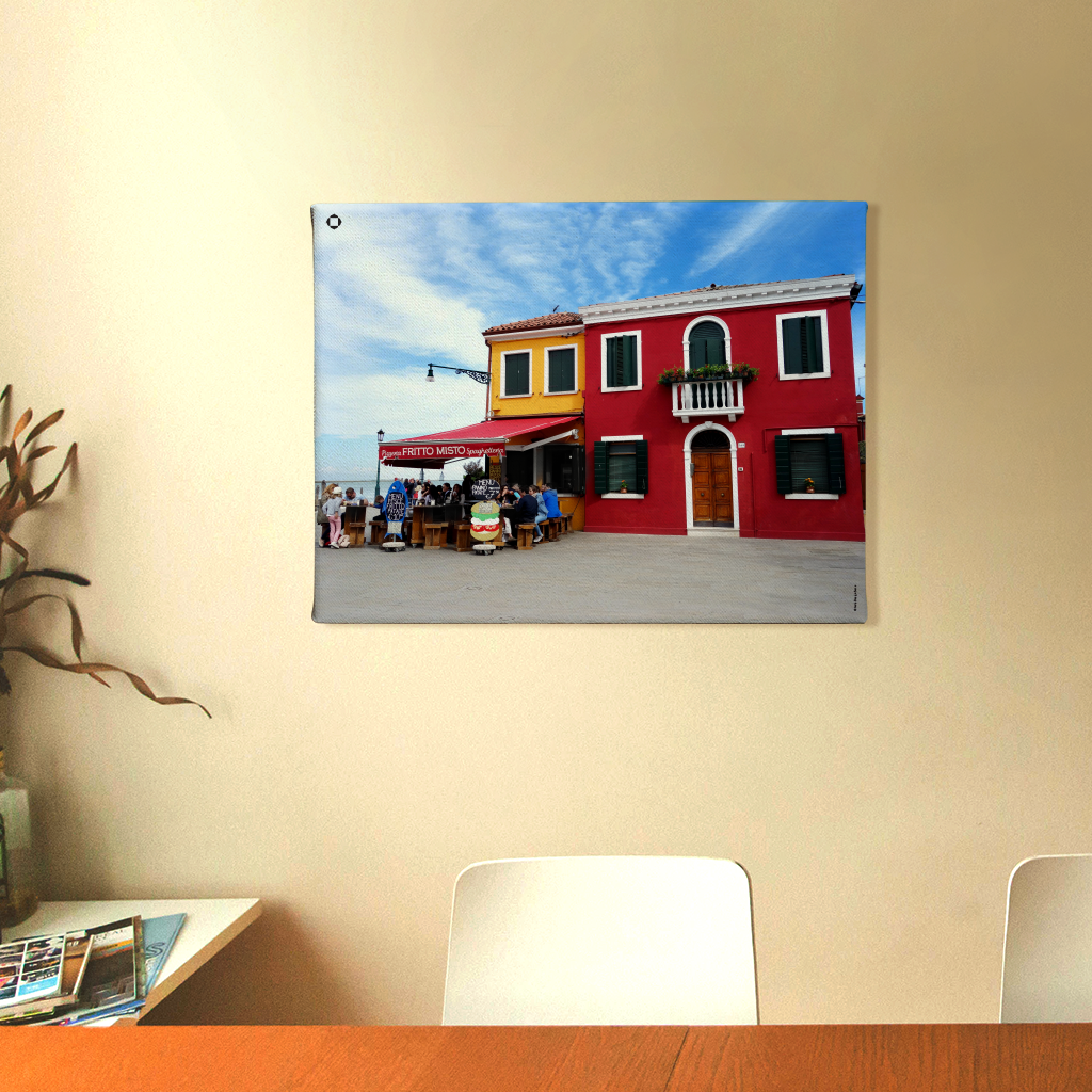 Color Pop Burano Canvas Wall Art | India Design Store