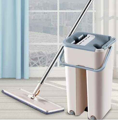 360-Degree Flat Mop With Bucket & Flexible Head (1 Free Microfibre Pad)