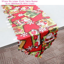 Load image into Gallery viewer, Christmas Linen Table Runners, Placemats and Chair Covers - 40 variants