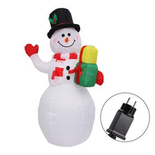 Load image into Gallery viewer, Inflatable Santa Claus and Snowman - with LED lights