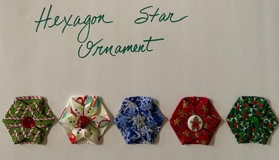 Folded Hexagon Star Ornament