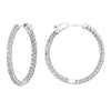 Inside Out Diamond Hoop Earrings- 3.00 twt.