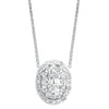 Oval-Shaped Diamond Starbright Necklace, 0.26ctw