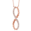 Rose Gold Beaded Infinity Diamond Pendant