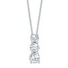 Graduated Diamond Pendant in White Gold- 0.50 ctw.