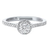 Diamond Halo Engagement Ring - 0.53 ctw.