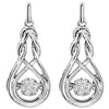 Rhythm of Love Diamond Earrings with Infinity Frame