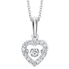 Rhythm of Love Diamond Heart Pendant in White Gold