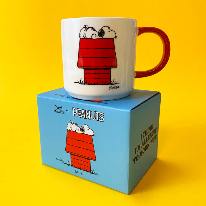 Peanuts Mugs Allergic to Mornings