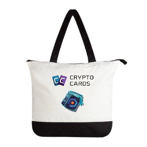 Crypto Cards Zippered Tote Bag
