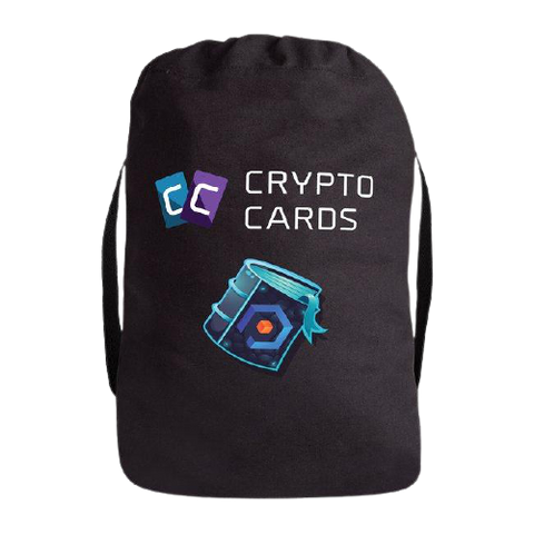 Crypto Cards Drawstring Backpack
