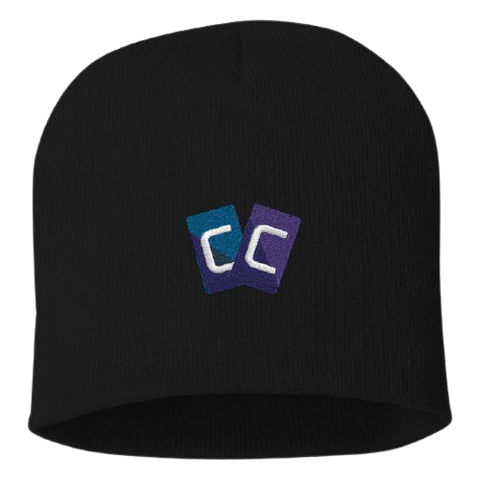 Crypto Cards Knit Beanie