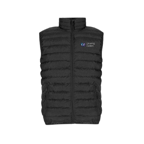 Crypto Cards Puffer Vest