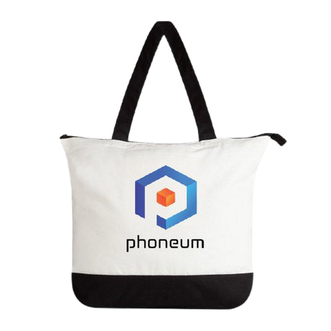 Phoneum Zippered Tote Bag