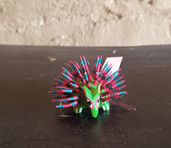 Mini Carved Porcupine by Francisco Hernandez Cruz