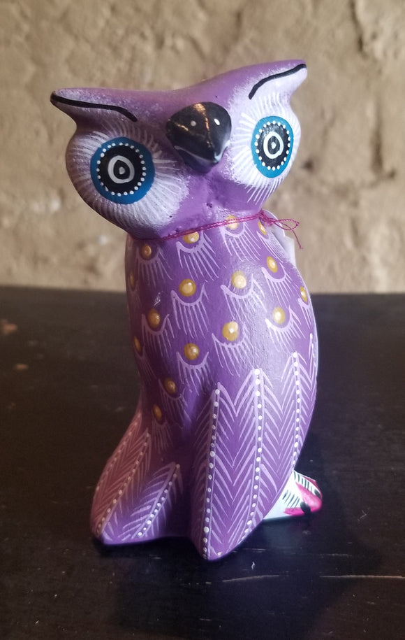 Purple Owl by Gerardo Ojeda Martinez