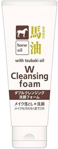 Kumano Horse Oil with Tsubaki Oil Cleansing Foam (130g) Japan Import