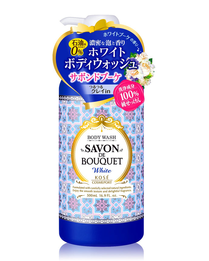 Kose Cosmeport-Savon DE Bouquet Body Wash White, 16.9 FL.OZ./500ML