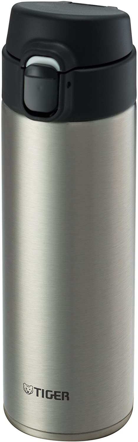 Tiger MMY-A048 XC Vacuum Insulated Stainless Steel Travel Mug, Double Wall, Flip Open Lid with Lock Button, 16 Oz/0.48 L, Silver
