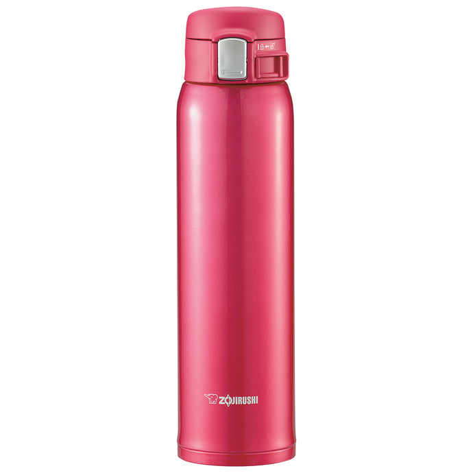 Zojirushi Lightweight Stainless Steel Travel Mug-20oz-Clear Red SM-SA60-RW