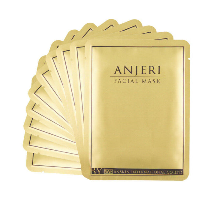 Anjeri Thailand Facial Gold Mask Anti-Aging Skin Exfoliation Pore Minimizing - 3pc