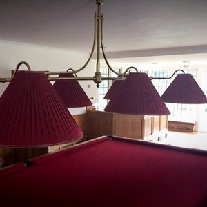 "3 LT-54"" BILLIARD LIGHT-BURGANDY"