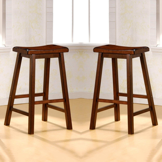 BACKLESS SADDLE BARSTOOL - CHESTNUT