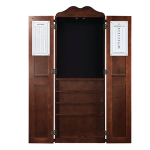 DARTBOARD CABINET CUE HOLDER - CHESTNUT