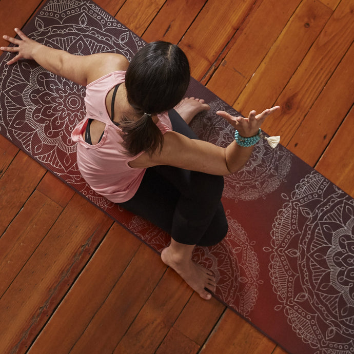 PREMIUM METALLIC SUNSET YOGA MAT (6MM)