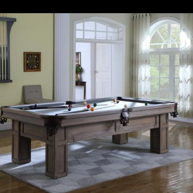 THE BRUISER 8' SLATE POOL TABLE IN CHARCOAL