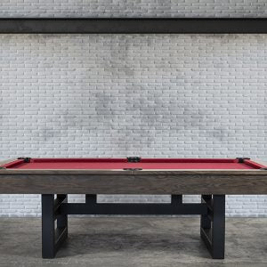 THE BRUISER 8' SLATE POOL TABLE IN SABLE
