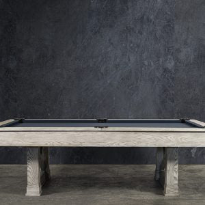 THE BRUISER 8' SLATE POOL TABLE IN SAND