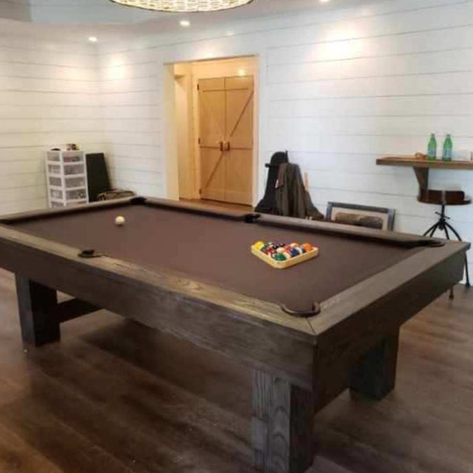 THE DON 8' SLATE POOL TABLE IN BROWN WASH
