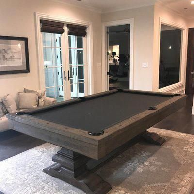 THE FARMHOUSE 8' SLATE POOL TABLE IN CHARCOAL