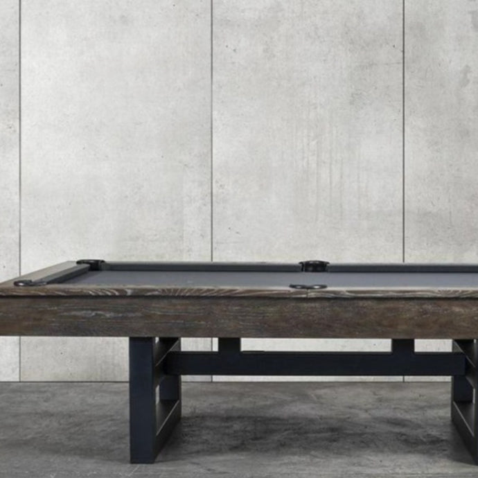 THE IRONHORSE 8' SLATE POOL TABLE IN BROWN WASH