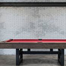 Load image into Gallery viewer, THE IRONHORSE 8' SLATE POOL TABLE IN RIVERBANK