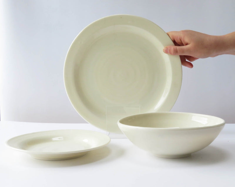 Dinner Set - 1 Dinner Plate, 1 Side Plate, 1 Pasta Bowl