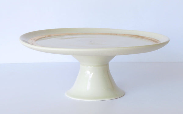 Cake Stand. white and gold