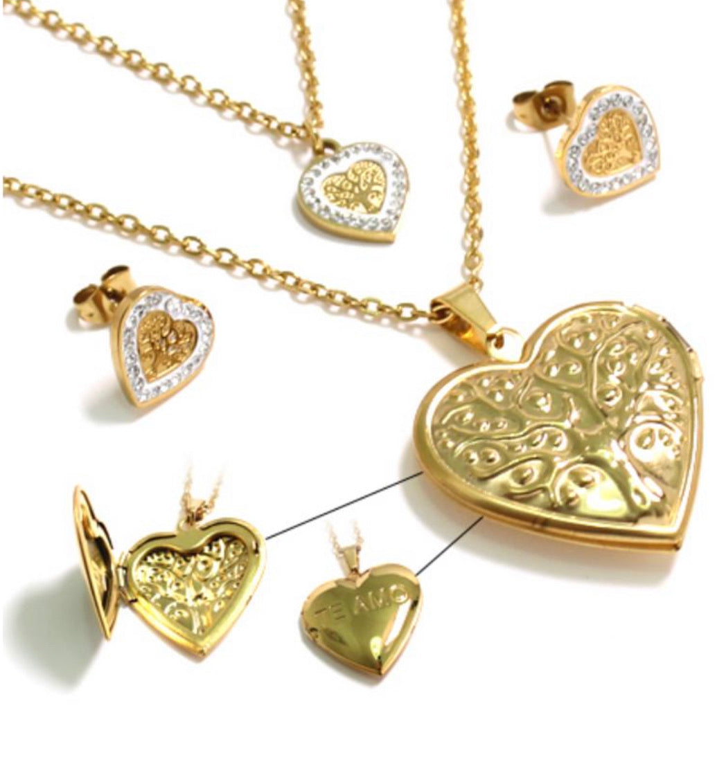 Te Amo Heart Locket