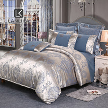 Load image into Gallery viewer, Lanlika Bedding Set Luxury Bed Linen Cotton Tencel Duvet Cover Set Bed Sheet Pillowcase 3/4pcs Bedclothes Adult Euro Bedspread