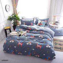 Load image into Gallery viewer, Bedding Sets Geometric Pattern Bed Sheet Children Student Dormitory Bed Linings Cartoon  3/4pcs Pillowcases Cover Set